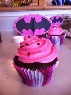 Batgirl Cupcakes for Fia's 4th Birthday? // Cafe Mom