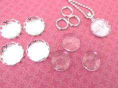 10 DIY Kit 12mm Petite  Pendant Kit Silver by theglassconnection, $8.99  VERY EASY!