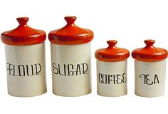 It is so hard to find a canister set that has more than 3 containers anymore!