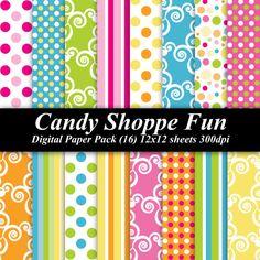 BUY 2 GET 1 FREE  Candy Shoppe Fun Digital by DelightfulDigitals, $4.00