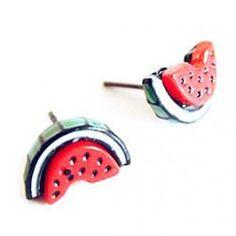 Love Fashion Jewelry Small Fresh Sweet Little Cartoon Watermelon Earrings Ear Jewelry E154 - buy for USD0.89