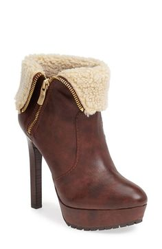 Leather booties that you can zip all the way up or fold down and cuff.