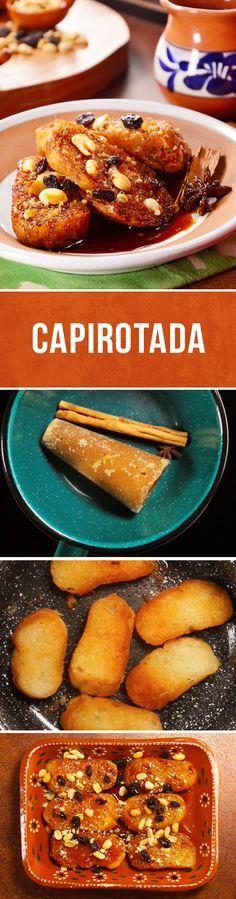 No dejes de preparar esta receta de capirotada. Un postre clásico de #cuaresma con pocos ingredientes y sin gastar mucho dinero. Ocupa el pan duro que te sobró y disfrútala en familia.