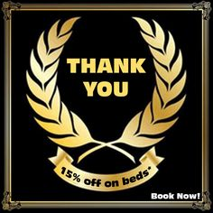 15% off all March on our 4 and 6 bed dorms only Sundays ,Mondays, Tuesdays