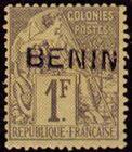 1892 Benin, 1fr olive green.