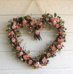 rose heart wreath by Hinckleyc1
