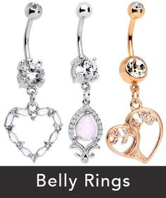 New Belly Rings > brand new, just for you body jewelry for your navel piercing.