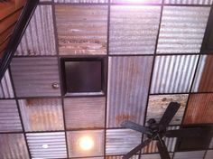 Barn tin ceiling