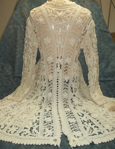 Antique Battenberg Tape Lace CoatVictorian to by tallulahTALLULAH, $2500.00