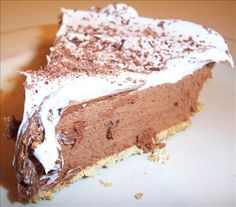 My grandmother gave me her recipe for this French silk chocolate pie years ago.  It's absolutely the BEST!