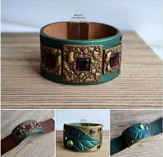 Gorgeous Polymer Clay and Leather Jewelry by Anna Bragina ~ The Beading Gem's Journal