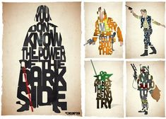 Typographic Star Wars Posters by Pete Ware: Yoda is perfect
