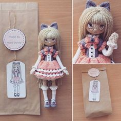 Amigurumi doll packaging idea by Yulia, happy dollmaker✌ @mint.bunny.