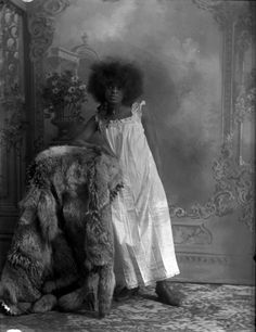 Portrait of an African-American woman, possibly a prostitute, taken by Aultman Studio of Trinidad, Colo. in 1890 from History Colorado Collection