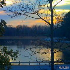 the original sunrise at Lake Imogene in Spindale NC at ICC