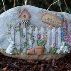 Welcome to my garden muur bord