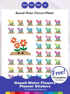 Icon / Functional Stickers – Printables by Design Teacher Planner, Life Planner, Happy Planner, Printable Planner Stickers, Diy Stickers, Printables, Planning And Organizing, Soap Bubbles, Water Flowers