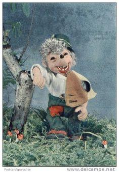 Mecki Hedgehog is drunk - rare postcard from Yugoslavia - Delcampe.net