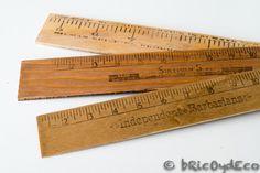 Cómo hacer reglas de madera vintage en www.bricoydeco.com