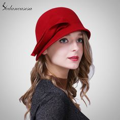 Autumn Winter Hat Female England Wool Felt Hat Retro Cloche Hats Hot selling Warm Bucket Hats for women FW209001 Great, huh? #shop #beauty #Woman's fashion #Products #Hat