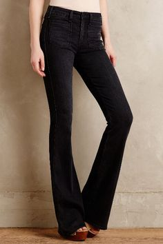 McGuire Inez Patched Flare Jeans - anthropologie.com #anthroregistry
