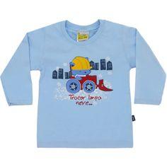 Camiseta Infantil Masculina Trator Azul - Jaca-Lelé :: 764 Kids | Roupa bebê e infantil