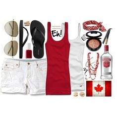 Designer Clothes, Shoes & Bags for Women Canada Day Party, Red And White Outfits, Summer Outfits, Cute Outfits, Happy Canada Day, Canadian Girls, Classic Style, My Style, Outfit Of The Day