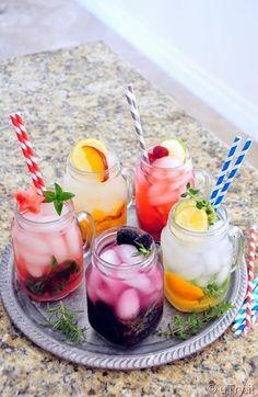 5 Naturally Flavored Spa Water (Watermelon/Mint, Nectarine/Meyer Lemon, Blackberry/Rosemary, Raspberry/Lime, Meyer Lemon/Lime/Thyme)