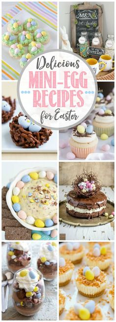 Delicious Cadbury mini-egg dessert ideas for Easter. I can't get enough of these!