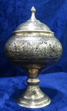 Persian Silver Candy Bowl - Fine Engraving