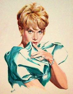 There is something about her eyes and look that remind me of Julie London. Which is a pretty good comparison. Some Girls, Pin Up Girls, Julie London, Pin Up Art, Lady And Gentlemen, Woman Painting, Couple, Pretty Good, Burlesque