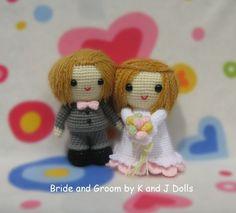 Braut und Bräutigam, Amigurumi Häkelanleitung