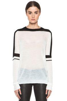A.L.C. Sachi Sweater in Ivory & Black