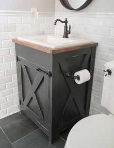 50 best farmhouse bathroom vanity remodel ideas (109)