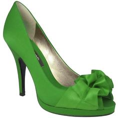 Nina Shoes, Evelixa Evening Pumps (125 AUD) ❤ liked on Polyvore featuring shoes, pumps, heels, green, peep-toe pumps, evening pumps, high heel shoes, evening shoes and green peep toe pumps