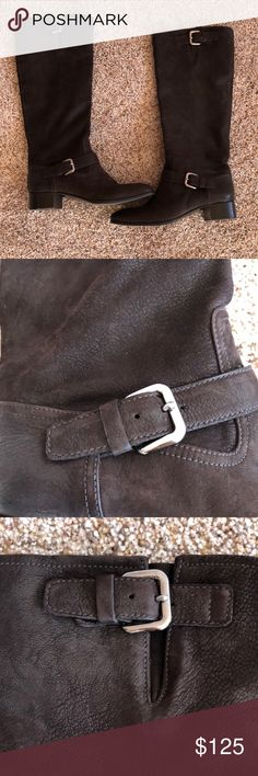 """*Price Firm* Prada Brown Leather Boots Soft brown leather Prada Boots. Heel height is 1"""" with total length of boot at 16"""" - I don't have original dust bag or box. Prada Shoes"""