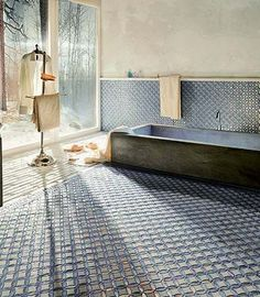 This photograph is an ad by SICIS, an Italian art mosaic factory.  And the tile is glorious.