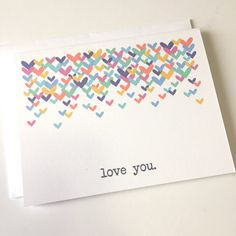 Valentine's Day Card - Love You - Colorful Love - Valentine For Him - Valentine For Her - Valentine For Friend - Love You Card - Hearts