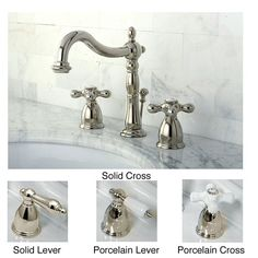 Combine traditional design with modern luxury in this stunning widespread bathroom faucet. With a shiny nickel finish, it offers elegance and highlights other furniture and accessories in your bath interiors. It also provides lasting quality.