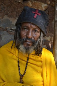Lake Tana, Amhara, Ethiopia — by Earthseeing. A priest in one of the monasteries on Lake Tana, Ethiopia. I asked if I could take a photo of him, and it was okay. Africa Travel, Priest, How To Take Photos, Christianity, Take That, Yellow, Federal, Gold