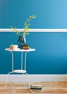 Marine Blue - Blue Paint Colours - Shop by Colour - Paint - little greene hallway Dining Room Walls, Living Room Paint, Blue Rooms, Blue Walls, Blue Home Offices, Little Greene Paint Company, Room Wall Colors, Hallway Colours, Bedroom Colours