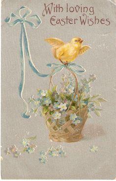 Loving Easter Wishes Vintage Postcard by sharonfostervintage, $2.50
