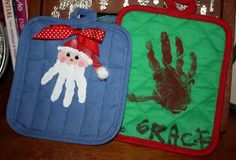 Christmas craft using pot holders.