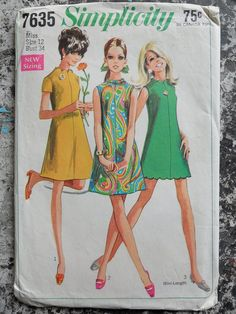 Vintage Sewing Pattern 1960s  Simplicity 7635  size by jolielouise, $8.00