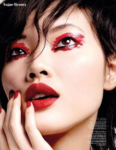 Chen Lin graces the pages of Vogue Thailand's May 2016 issue, appearing in the magazine's beauty supplement.