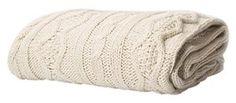 "Amazon.com: Battilo Luxury Cable Knit Throw Blanket, 50"" W x 60"" L, Beige: Home & Kitchen"