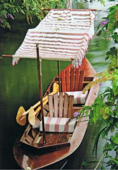 What a fancy paddle boat for two, is that for you know who?.................