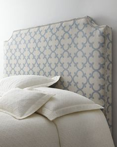 A pair of these headboards in a guest room would be a really nice look  #Horchow
