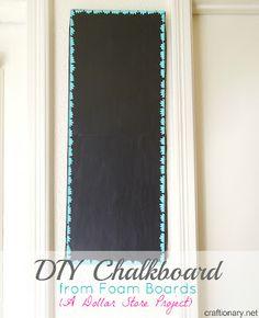 DIY Chalkboard from foam boards