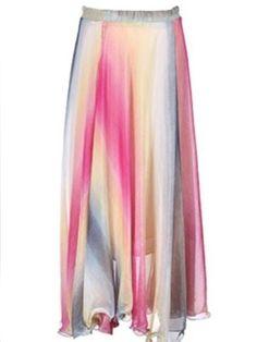 Charming  The New Color Big Swing Off Shoulder Chiffon  Maxi-dress
